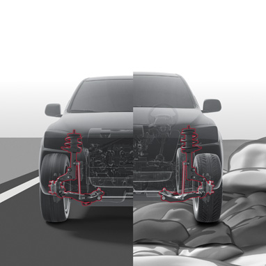4-wheel Active Height Control (AHC)