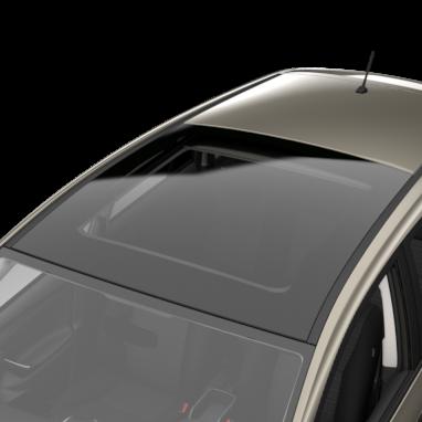 Skyview Panorama-Glasdach, mit elektrischem Lamellen-Rollo