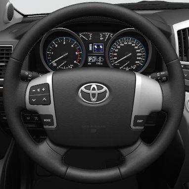 4-spoke leather steering wheel