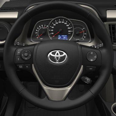 3-spoke leather steering wheel