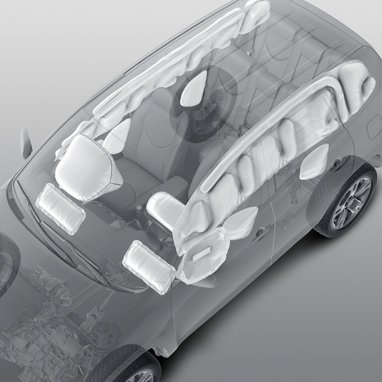 Supplemental Restraint System (SRS) airbags - 10 airbags