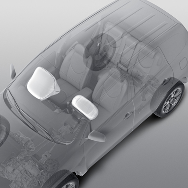 - Frontairbags für Fahrer und Beifahrer