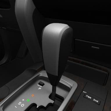 Leather gear shift knob
