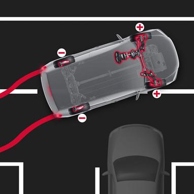 Blokkeringsfrie bremser (ABS) med elektronisk bremsekraftfordeling (EBD)